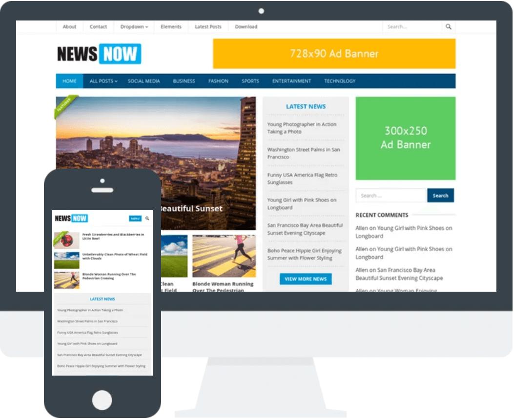 NeswNow – 免费News WordPress主题