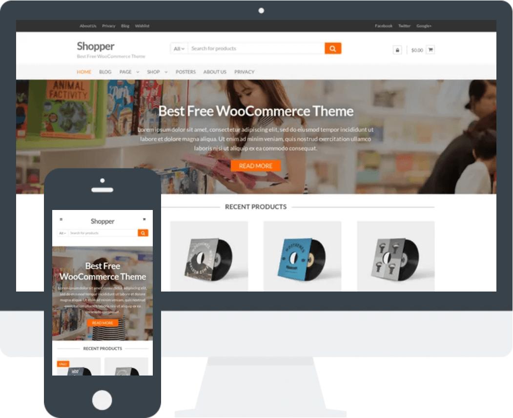 Shopper 免费WooCommerce商城WordPress主题