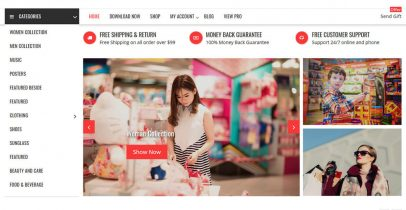 Online Shop 免费商城 WordPress主题