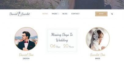 Matrimony 婚礼策划免费WordPress主题