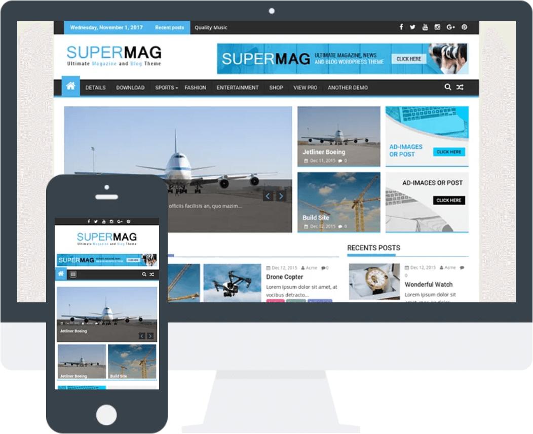 SuperMag 免费博客WordPress主题