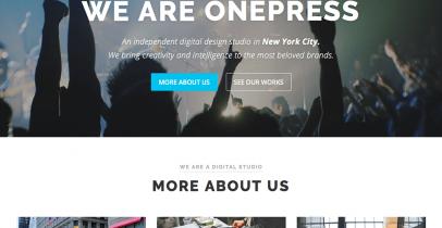 OnePress 免费企业WordPress主题