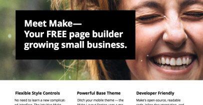 Make 一款现代化商务Wordpress免费主题