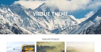 Virtue  免费的电子商务Wordpress主题