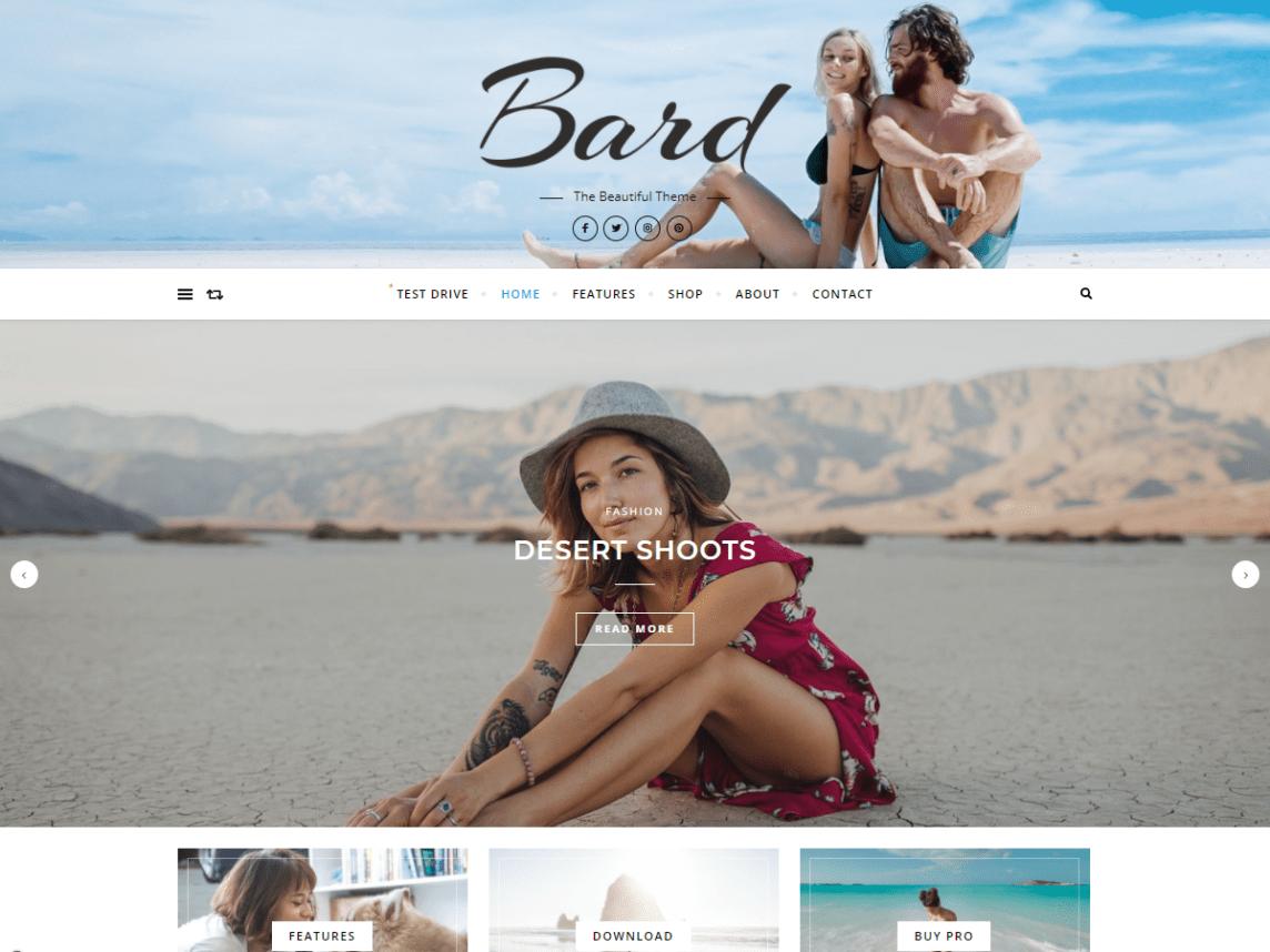 Bard 个人和多作者免费WordPress博客主题