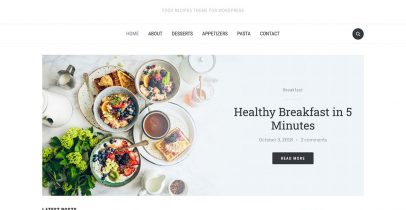 Foodica 一款适合美食烹饪的WordPress主题